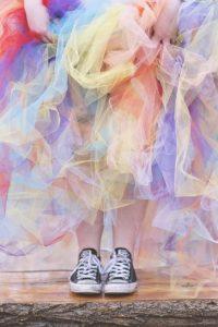 regenbogen kleid