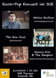 Rock-Pop Konzert im Juz 21.9.19
